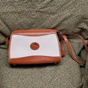 Vintage Dooney & Bourke White Tan Crossbody Bag OS